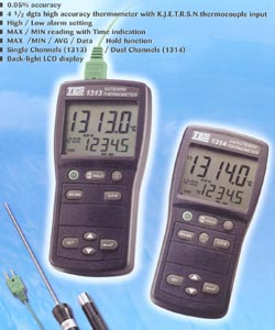 温度表(温度计)(双)TES1314K.J.E.T.R.S.N.TES-1314