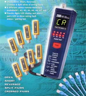 网络缆线测试器TES-45A