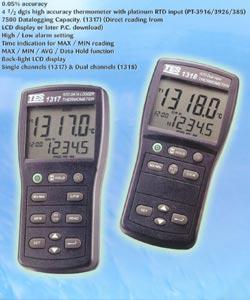 白金电阻温度表TES-1317(带探头)